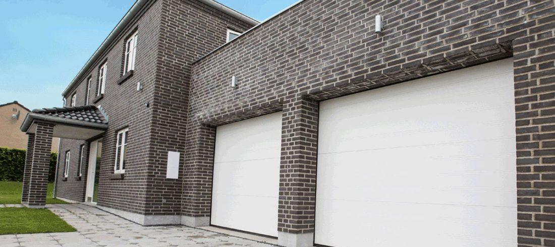 NASSAU, garageport, garageportar, classic, vit