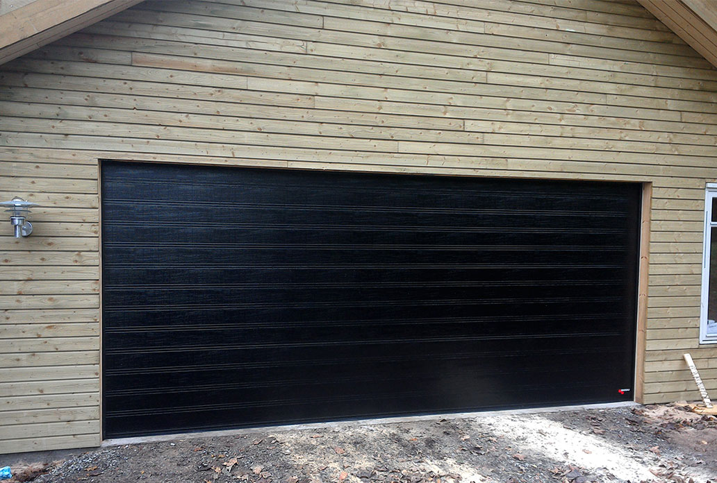 nassau, woodgrain, garageport, garageportar