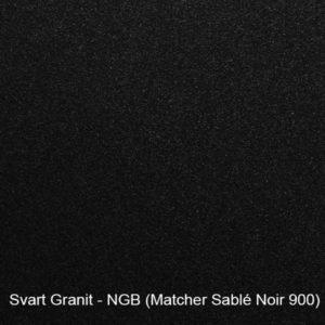 Svart granit garageport färgprov