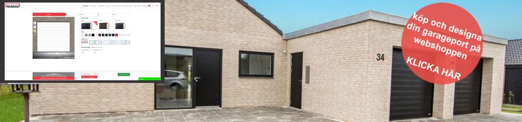 Köp och designa din garageport