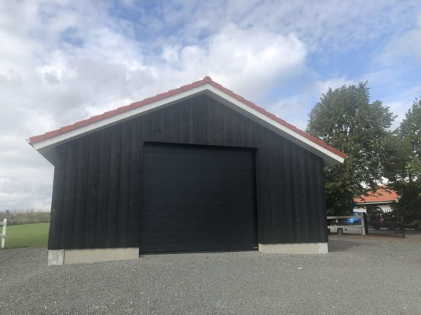 Svart woodgrain garagerpot