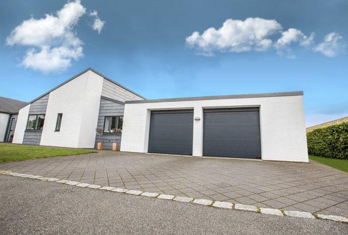 classic gråa garageportar