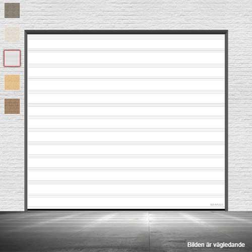 vit takskjutport utan fönster